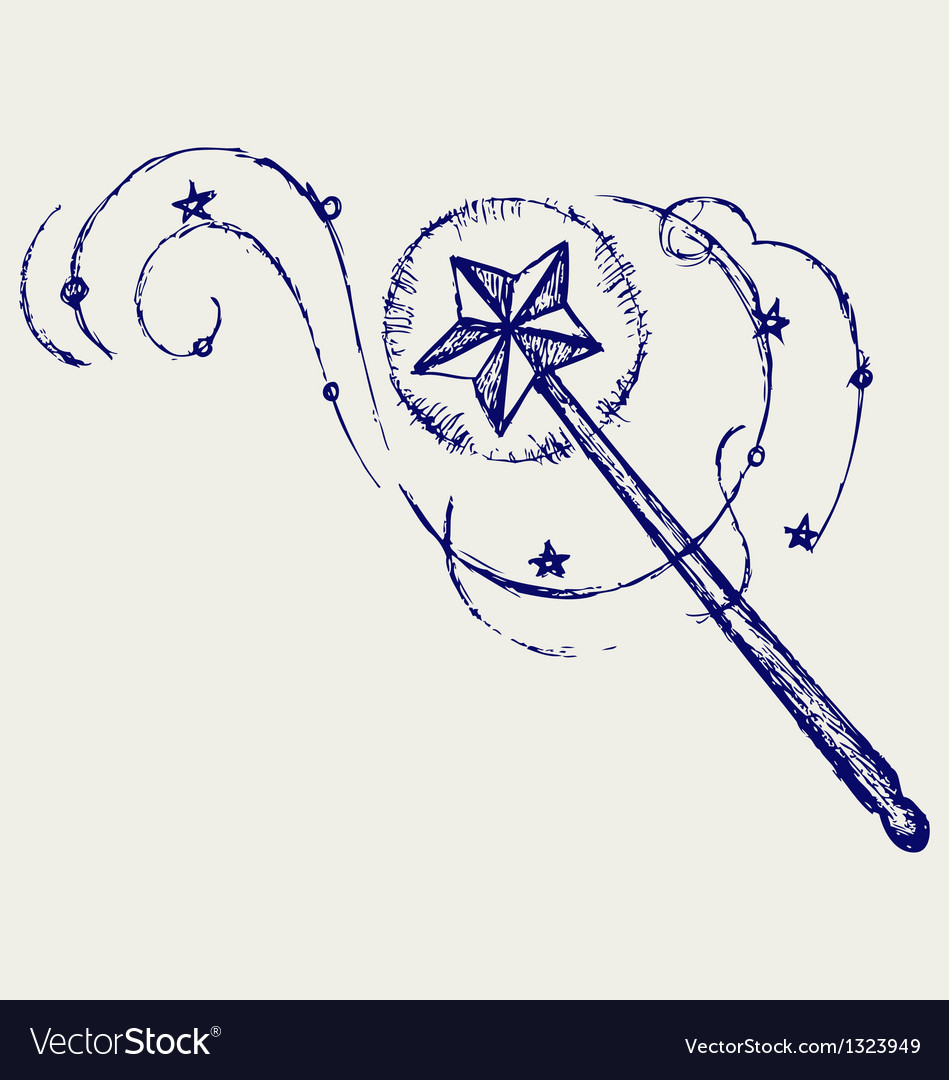 Magic wand vector image