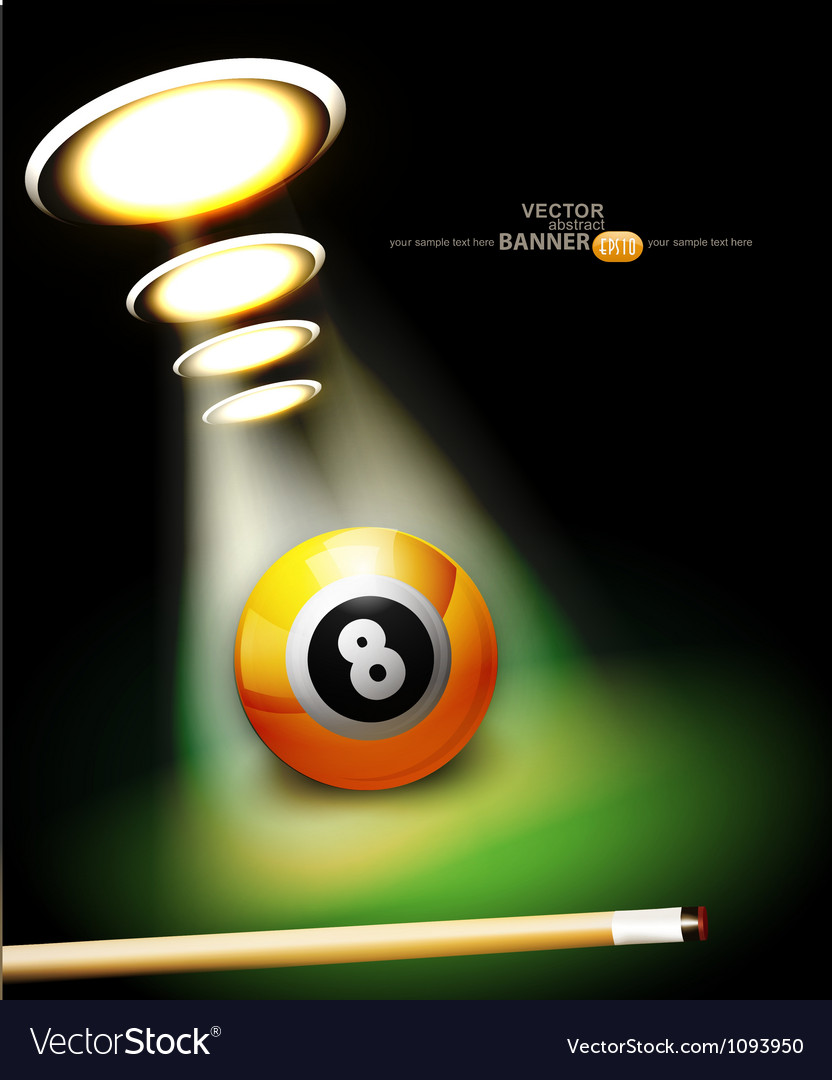 Bilbackground with a billiard ball vector image