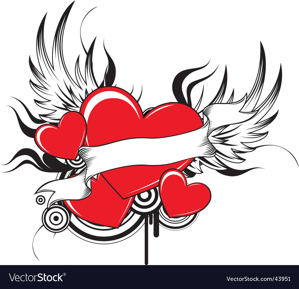 Tribal heart vector image