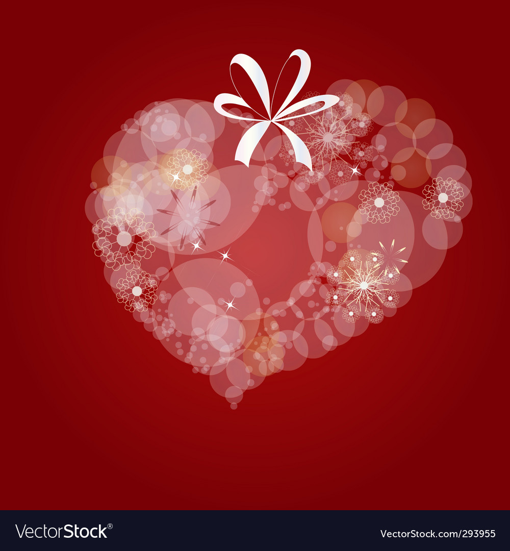 Decorative heart vector image