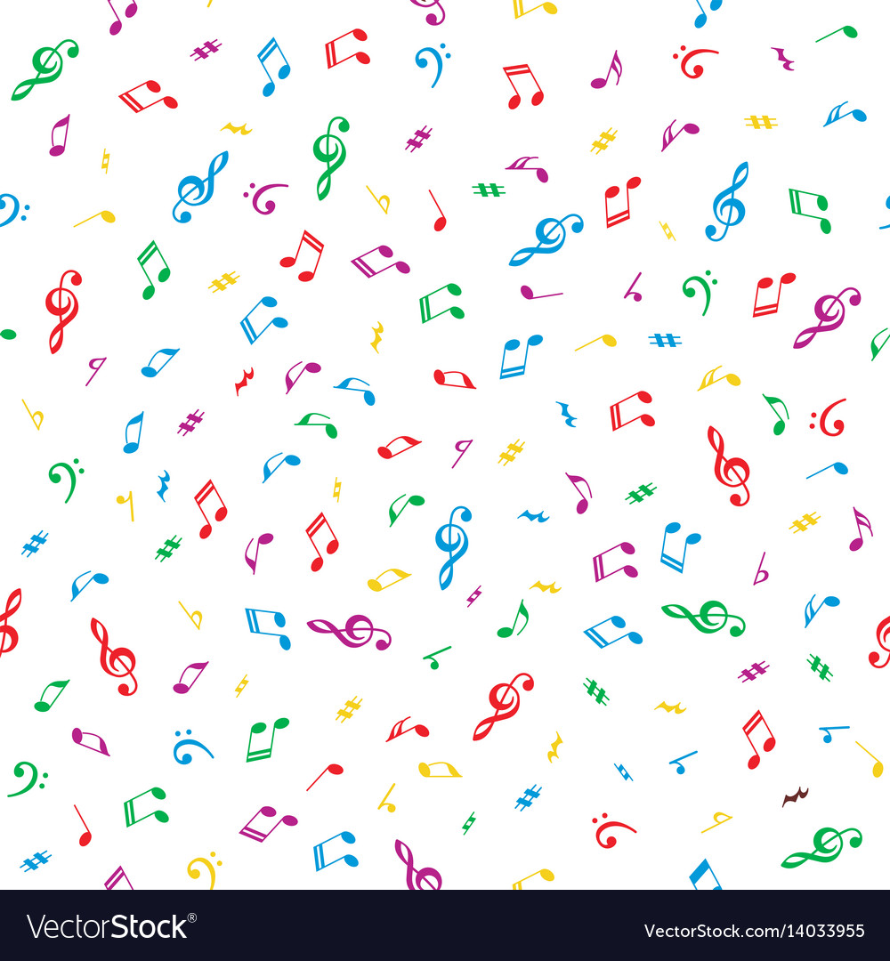 Background with notes vector image