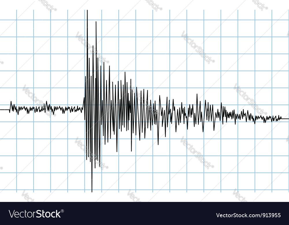 Earhquake wave vector image