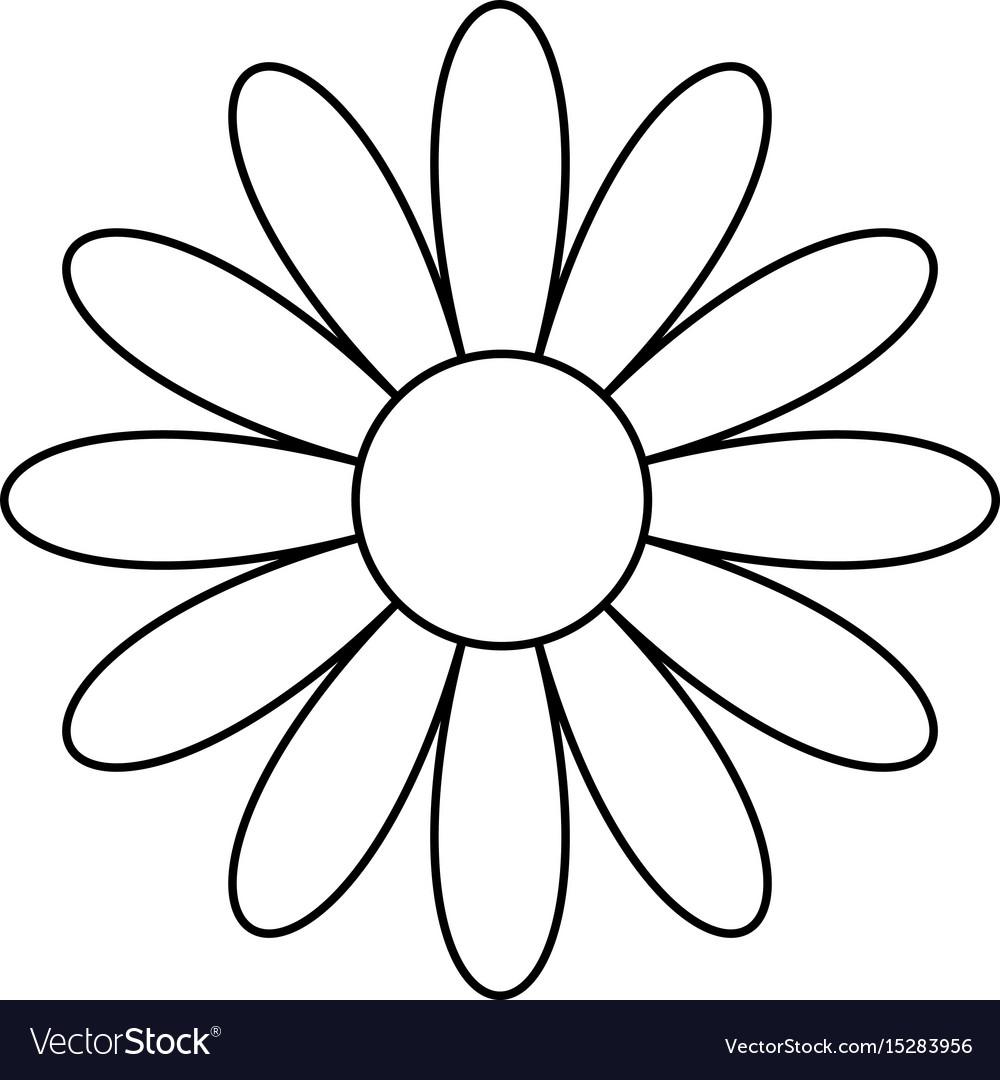 Beautiful Flower Symbol Royalty Free Vector Image