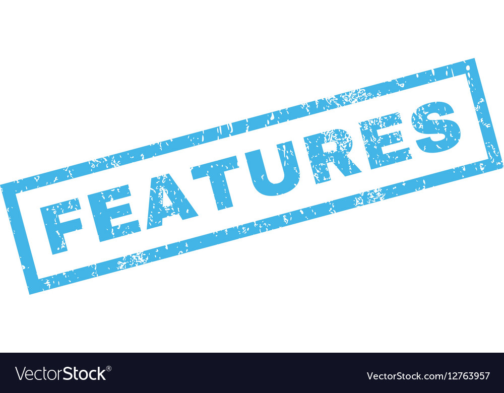 Features Rubber Stamp vector image
