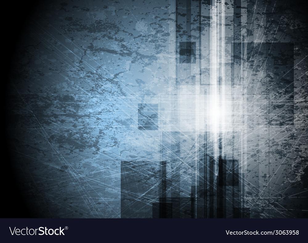 Grunge tech background vector image