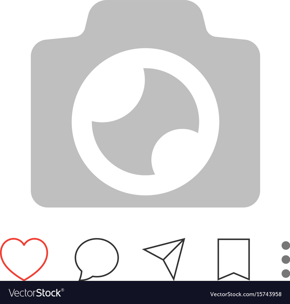 Mobile app interface pictograms vector image