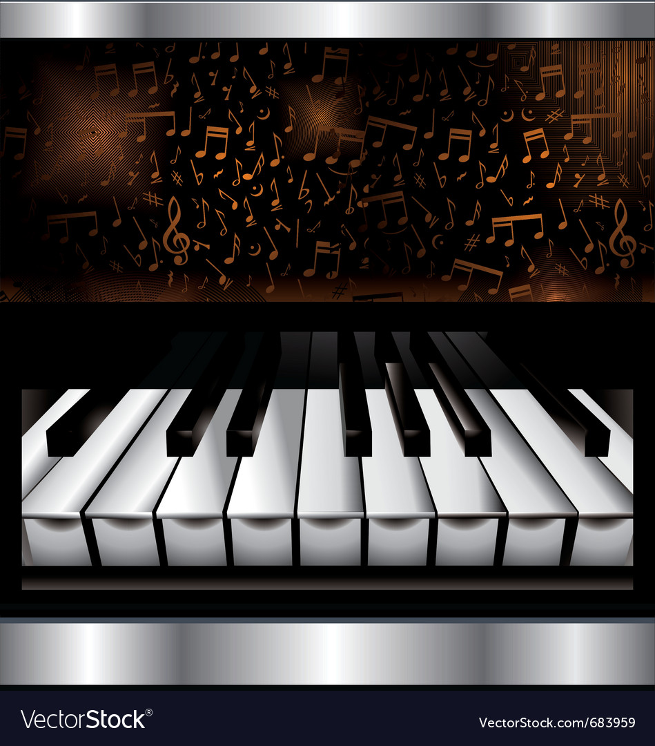 Abstract piano background vector image