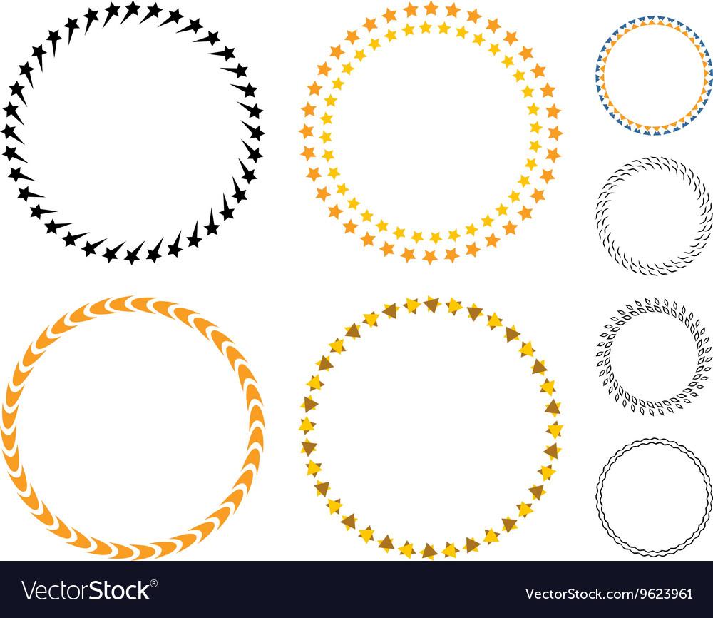 Circle template badge vector image