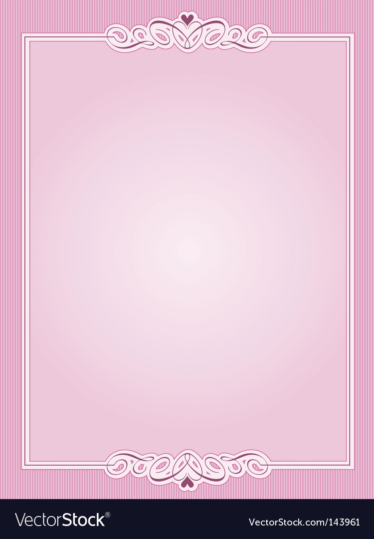 Valentines border vector image