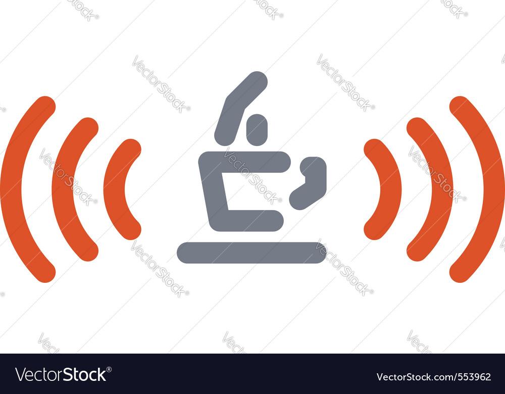 Internet cafe sign vector image