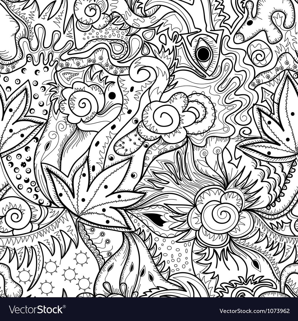 Abstract art drawing vector image