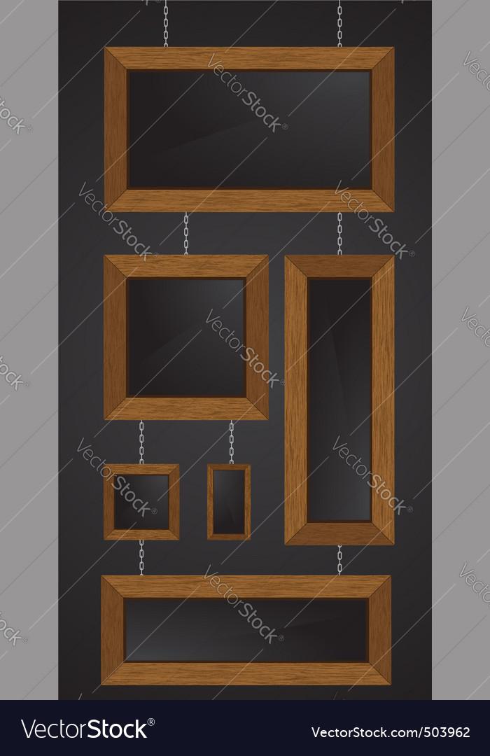 Wood frames vector illustratio vector image