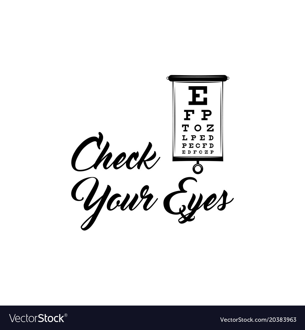 Eye test chart optometrist check eye diagnostic vector image geenschuldenfo Image collections