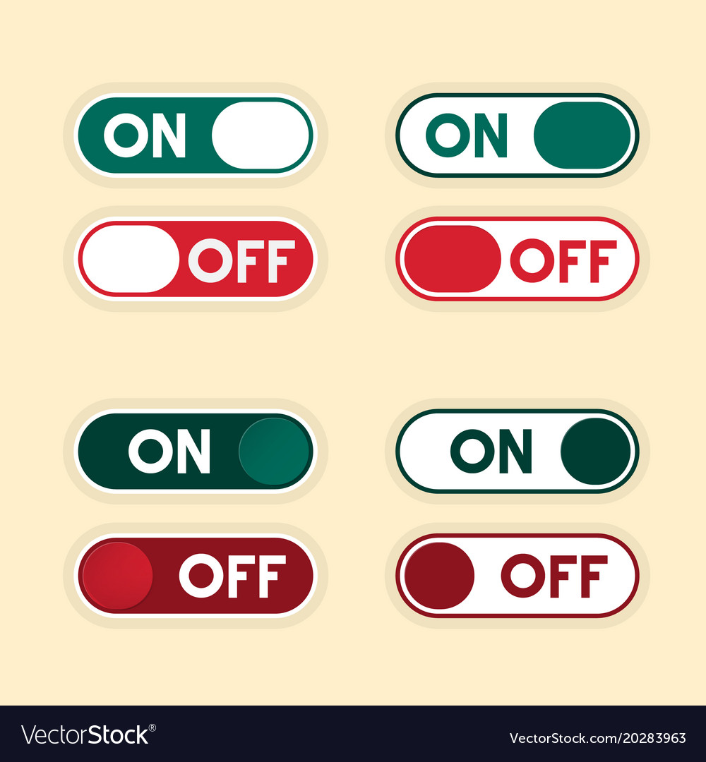 On and off buttons set icons vector image