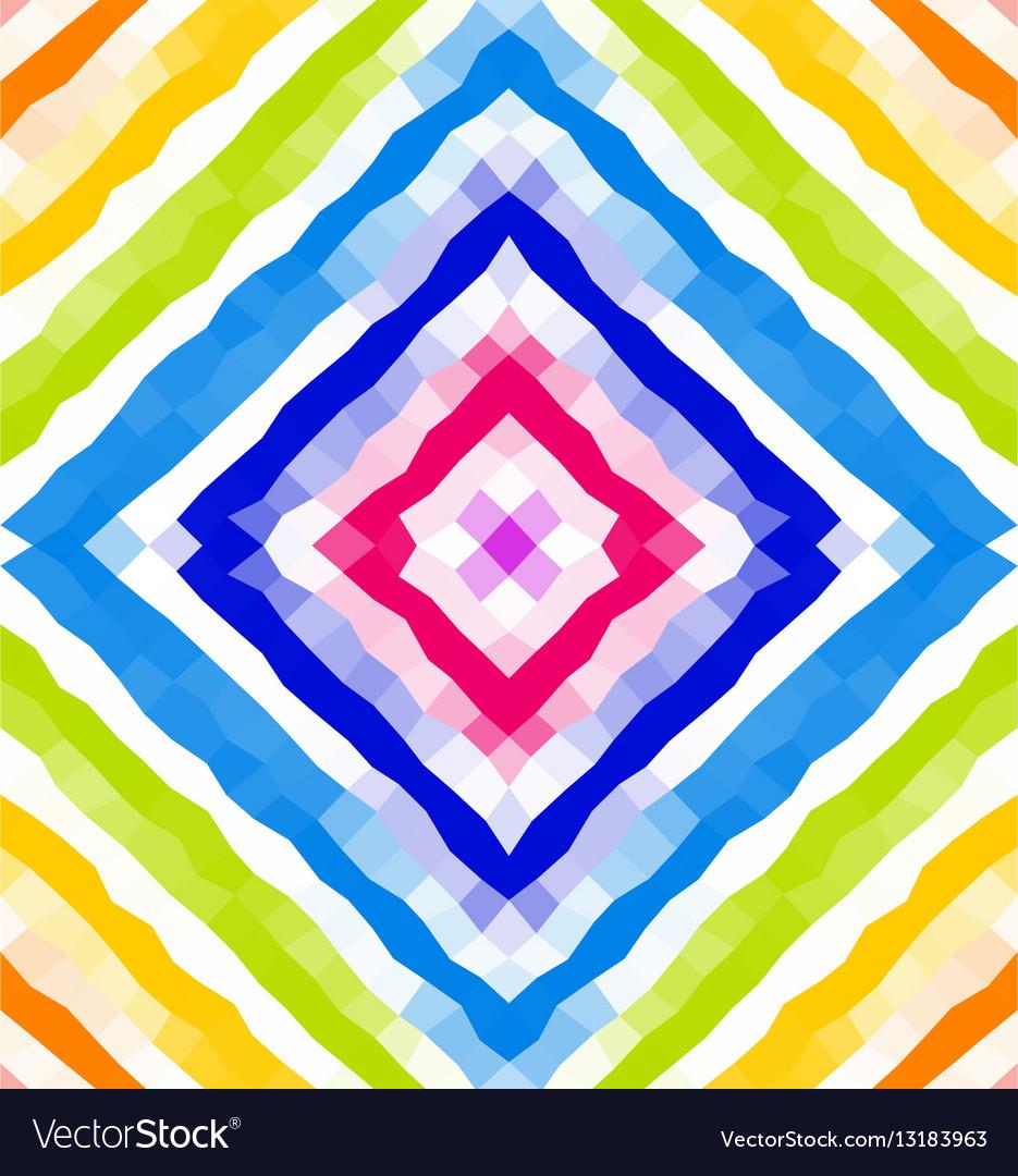 Seamless geometric pattern Polygonal mosaic vector image