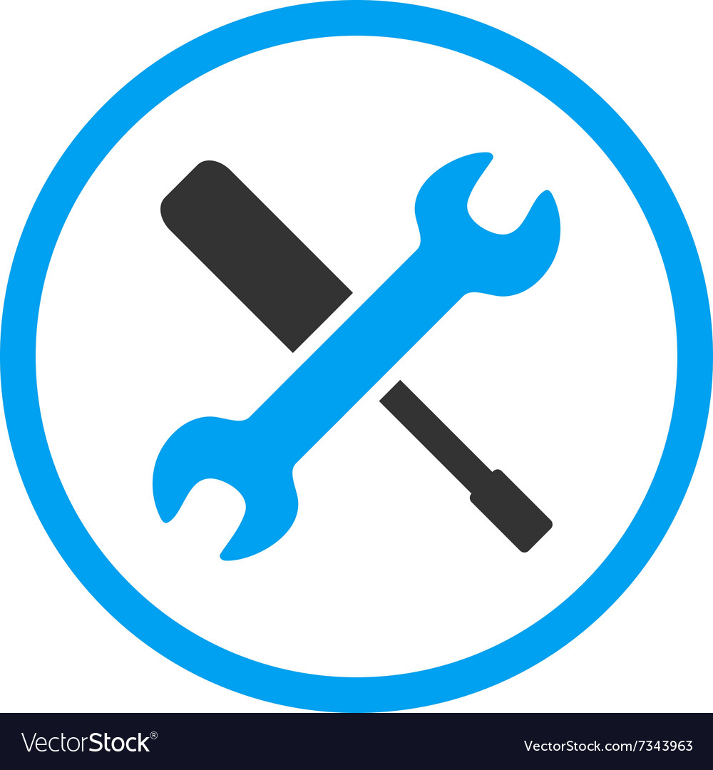Wrench And Screwdriver Tools Icon vector image