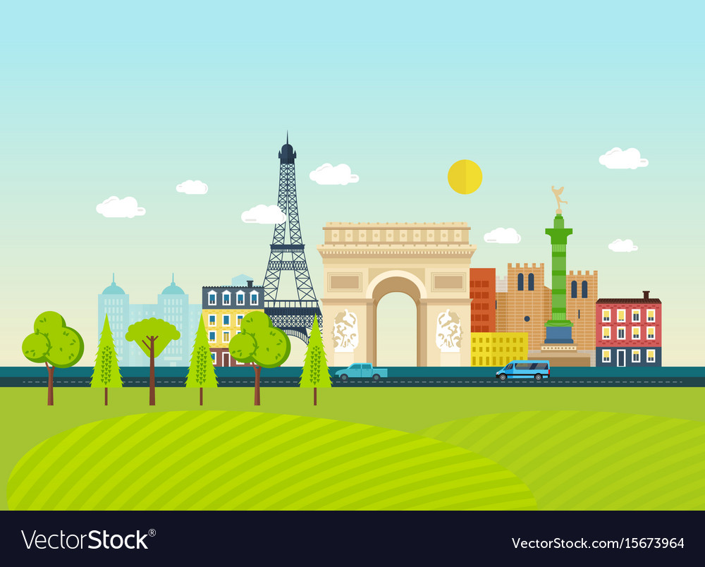 Familiarity with traditions culture architecture vector image