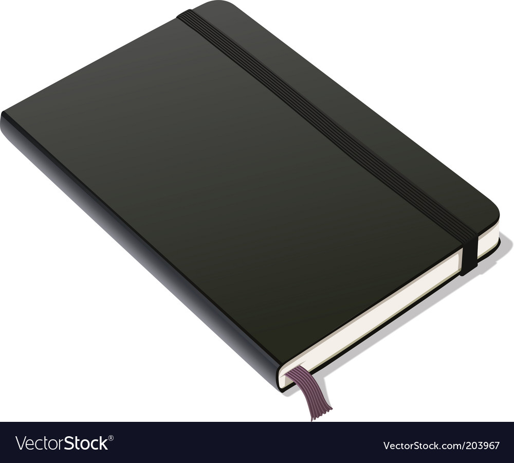 Bound notebook vector image