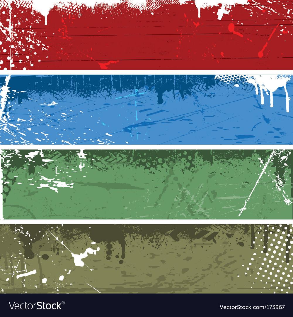 Grunge panels vector image