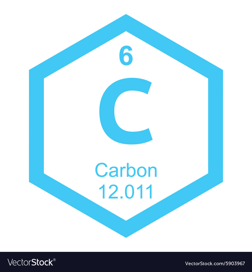 periodic table carbon vector image - Periodic Table Carbon