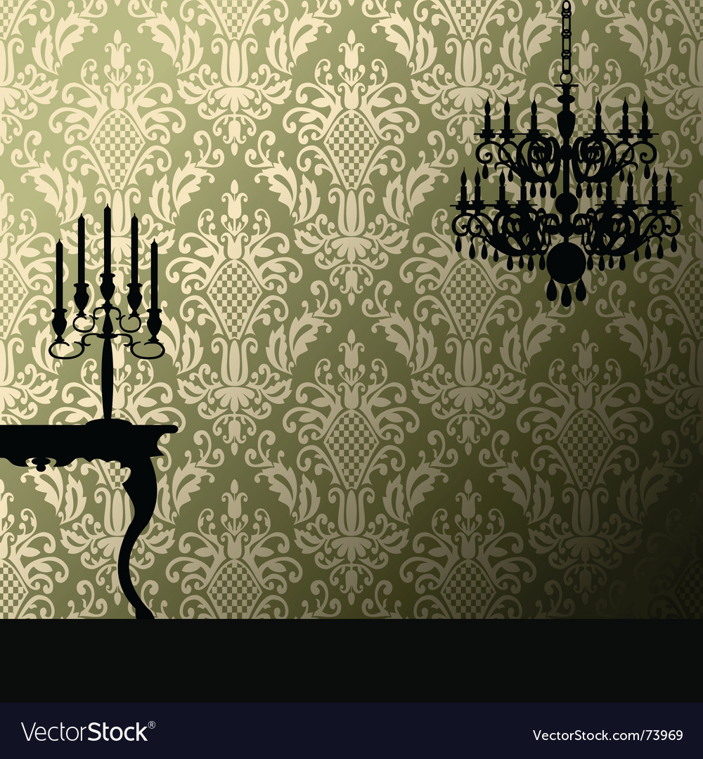 Damask and candelabra vector image