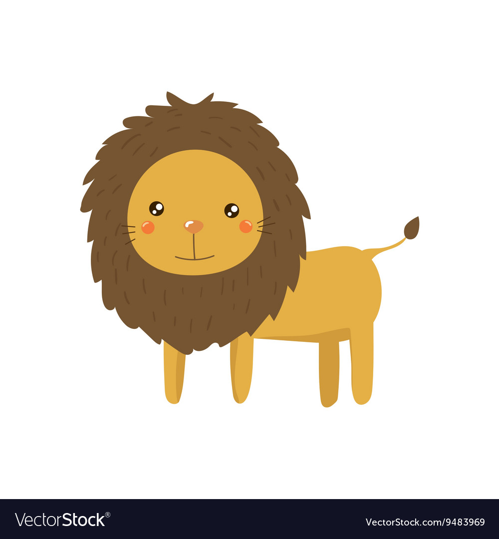 Lion Realistic Childish vector image