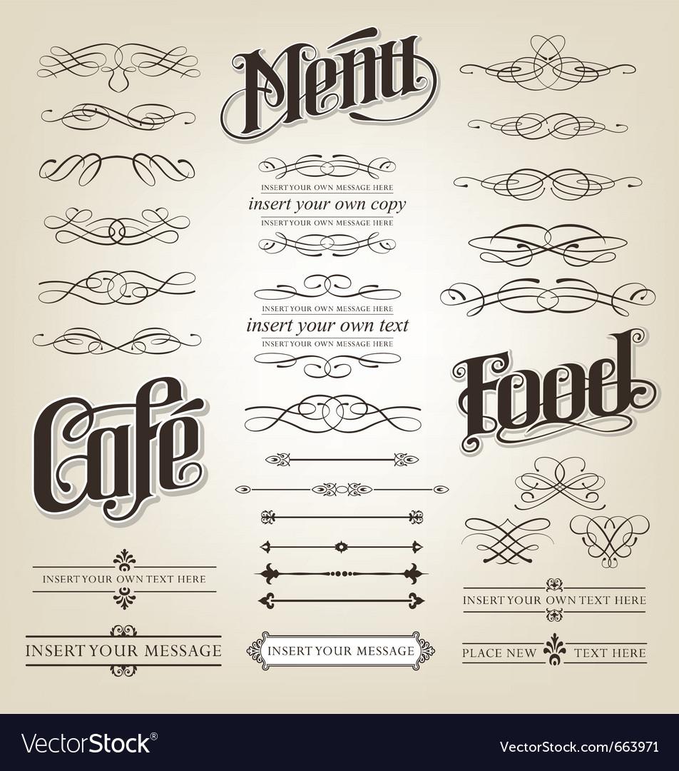 Calligraphy vector image