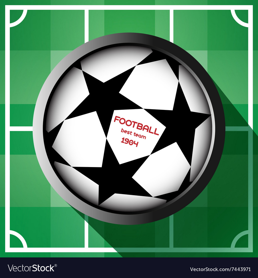 Champions league soccer ball with starts vector image