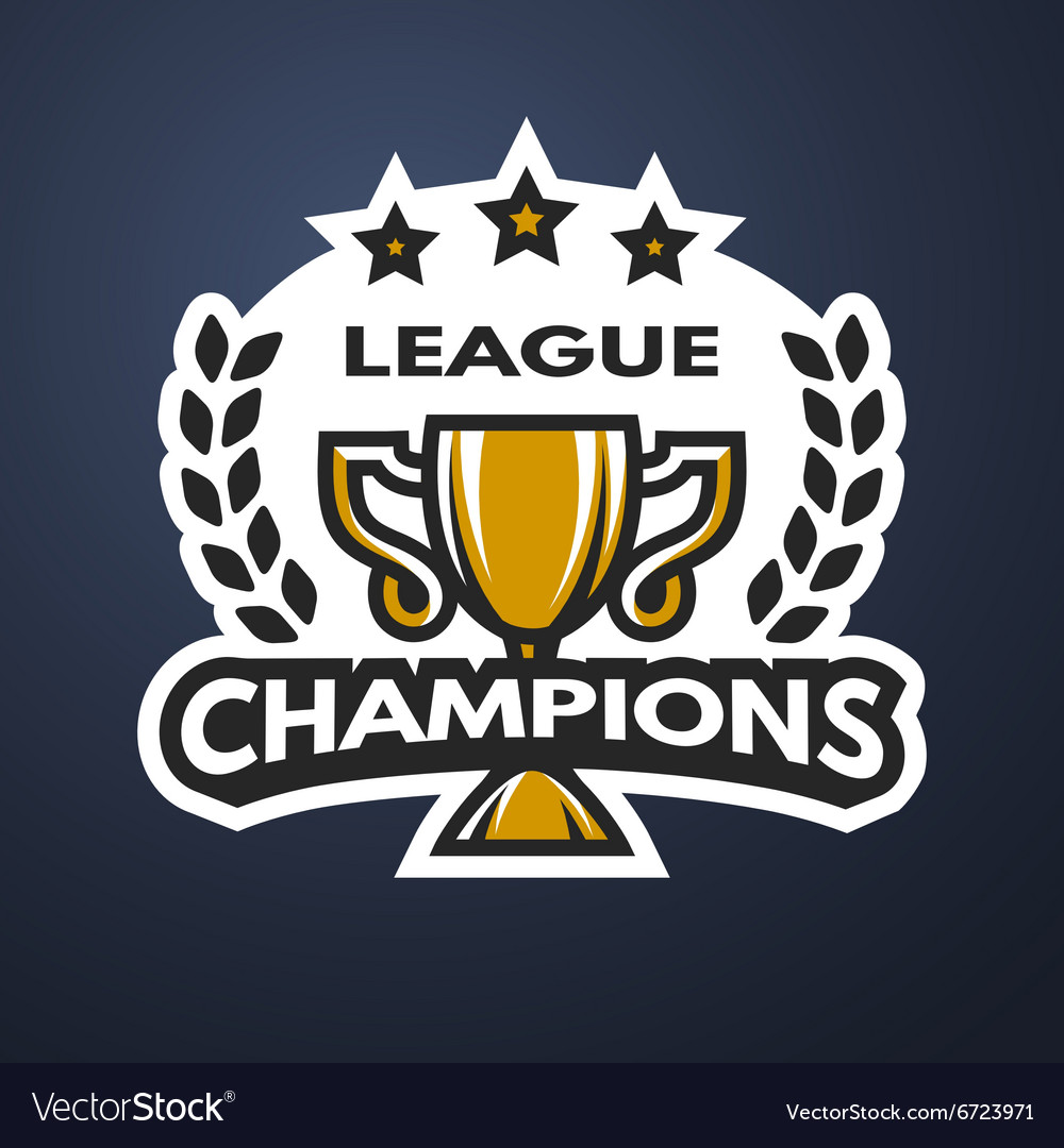 Champions League Vector: Champions League Sports Logo Royalty Free Vector Image