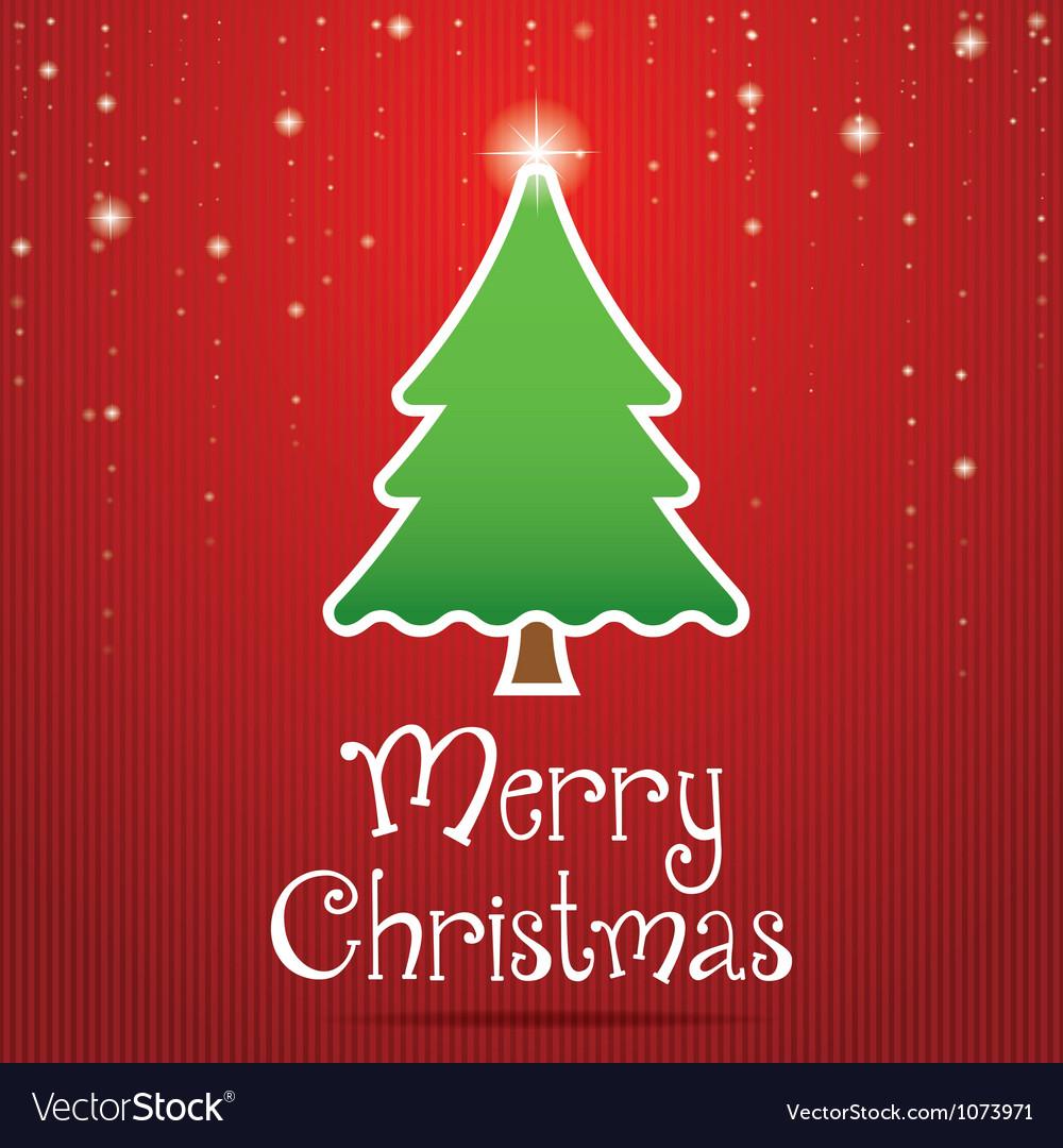 Christmas greeting card design vector image