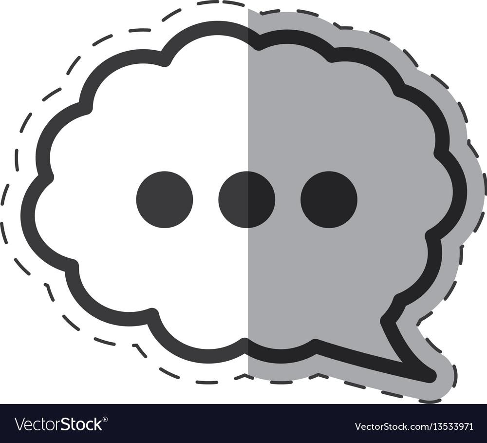 Cloud speech communication icon vector image