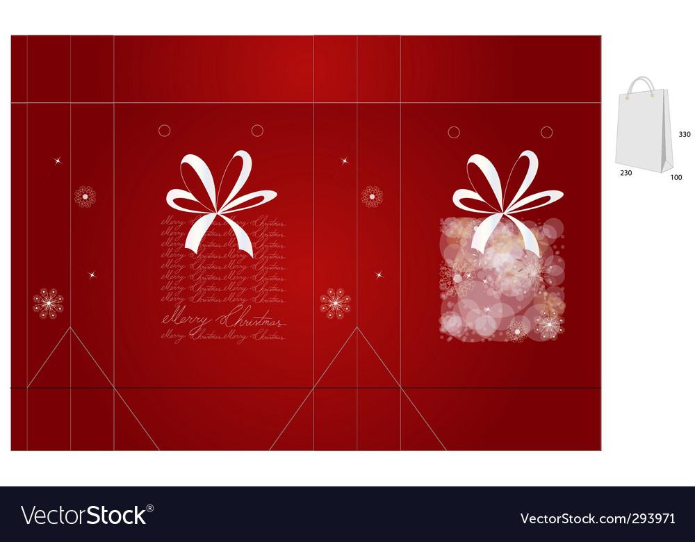 Gift bag vector image