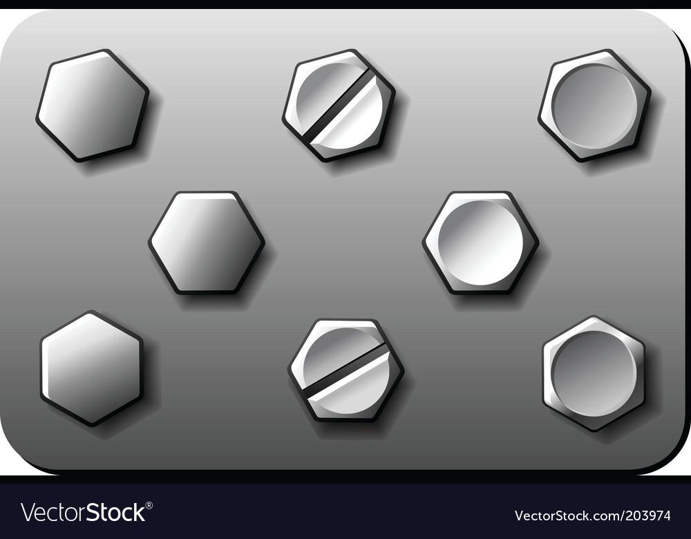 bolt screw royalty free vector image vectorstock