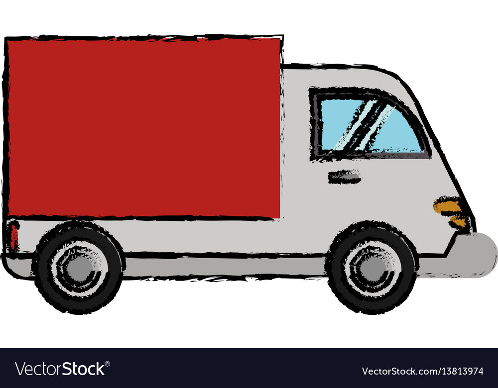 Delivery truck cargo transport vector image