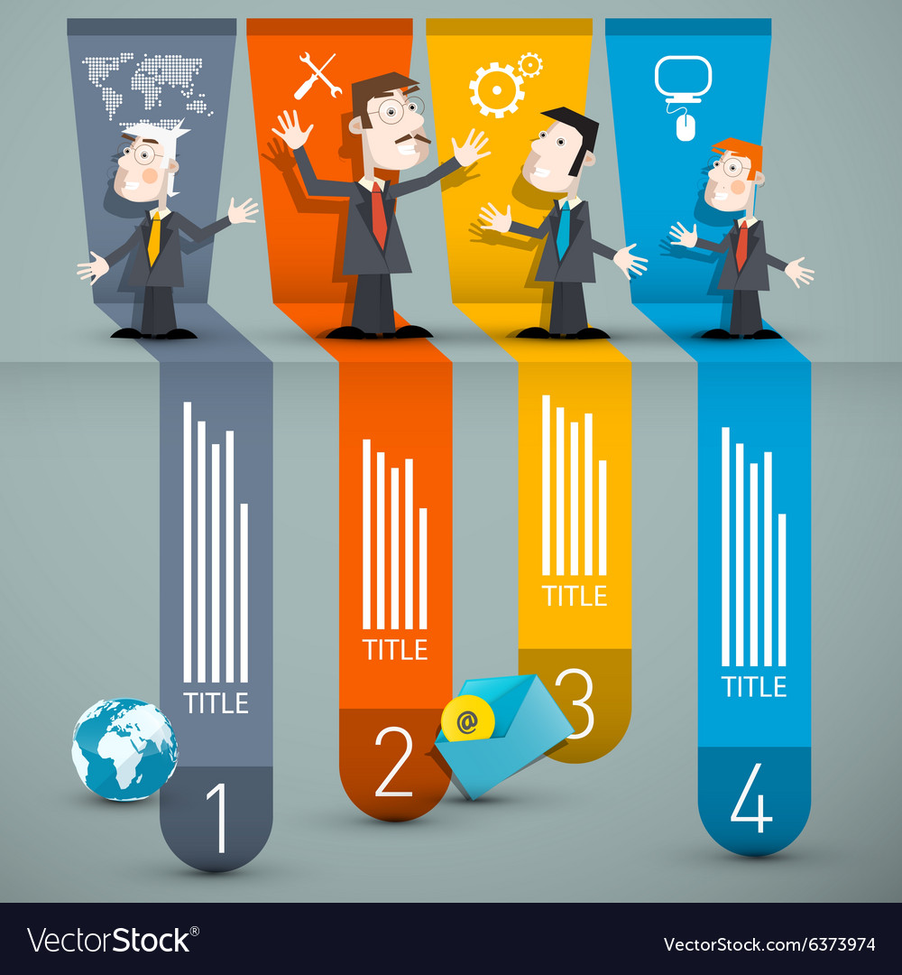 Infographics with Businessmen and Paper Layout vector image