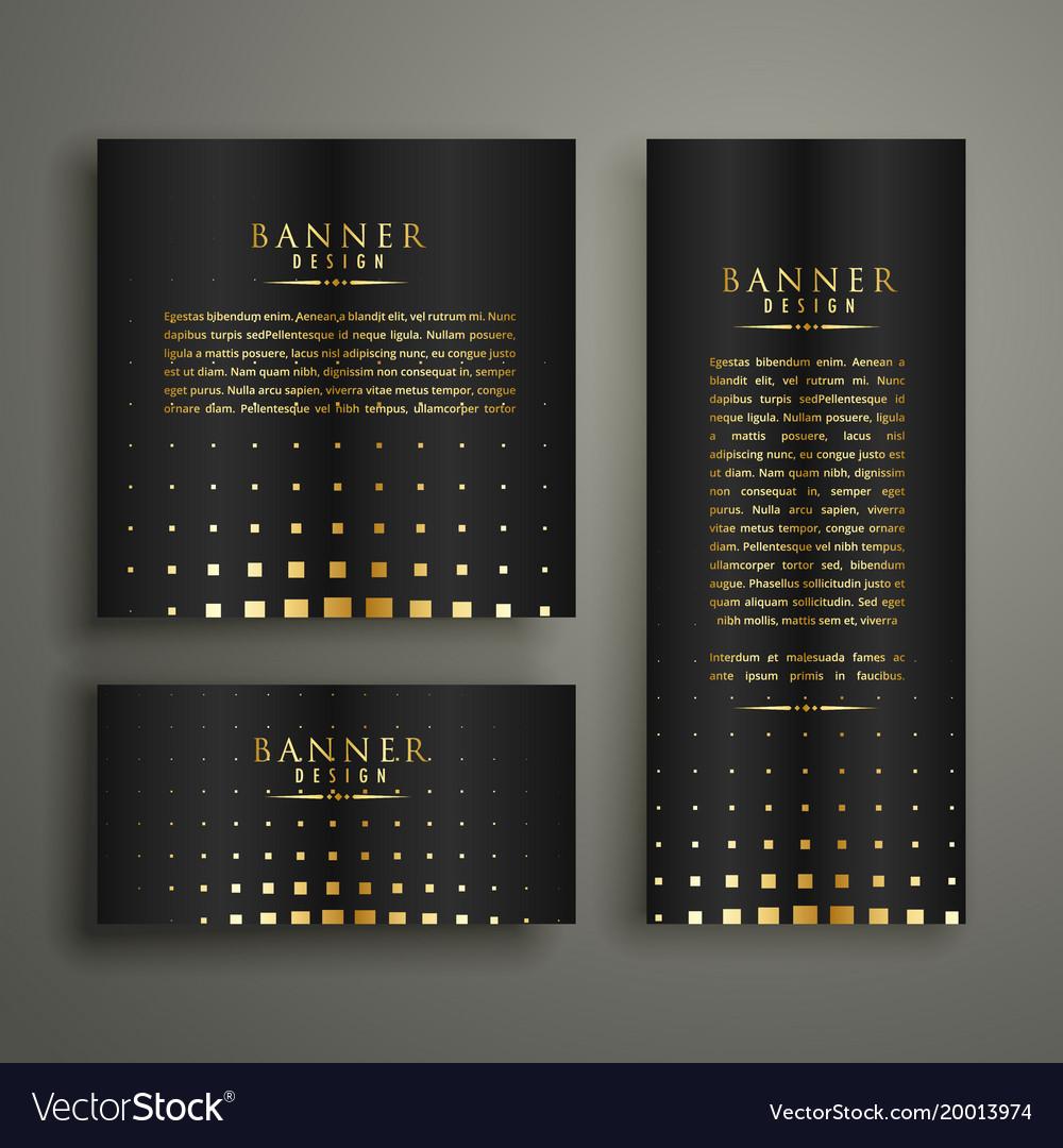 Modern golden halftone style banner design vector image