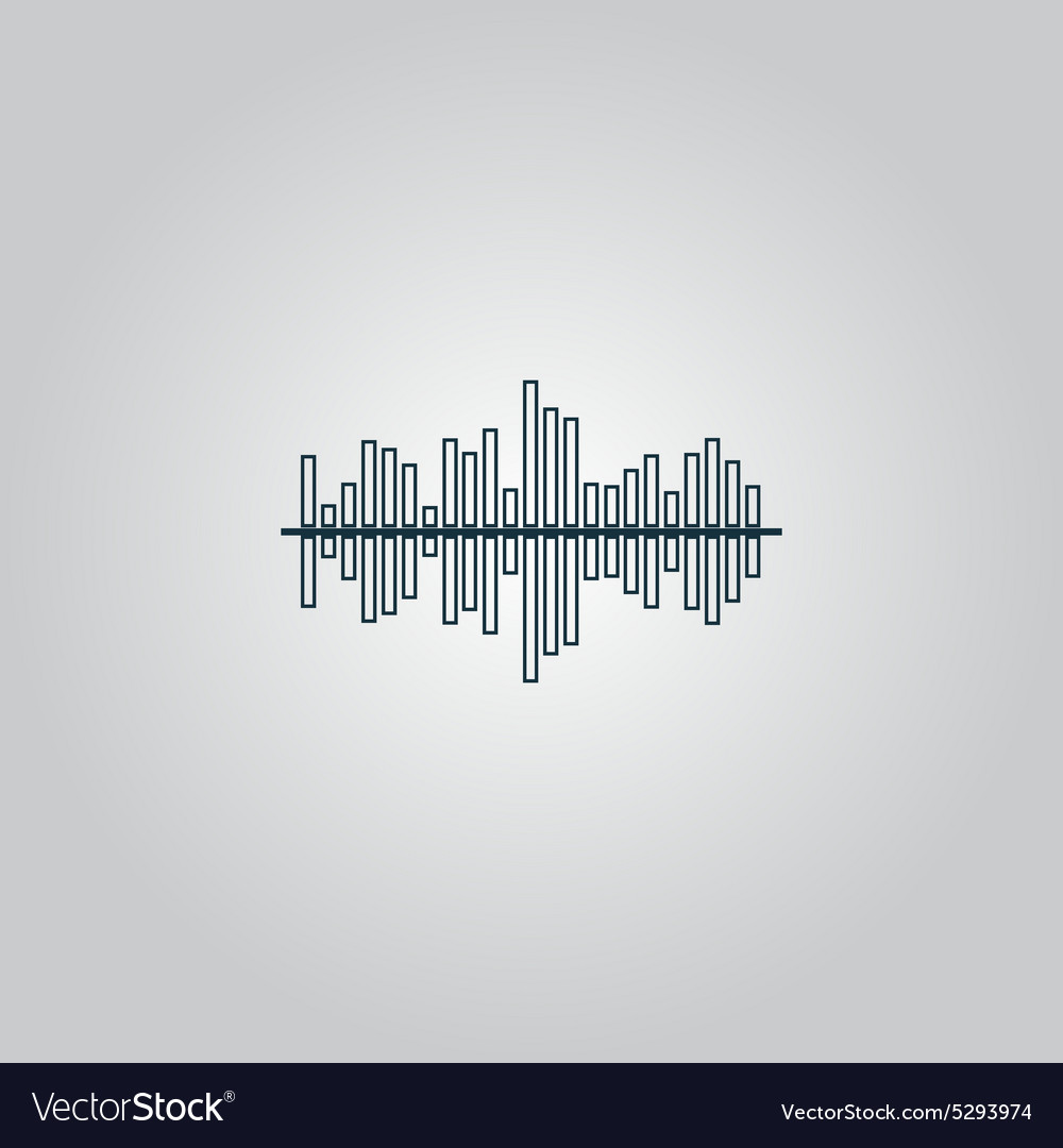 sound wave icon equalizer music element vector image