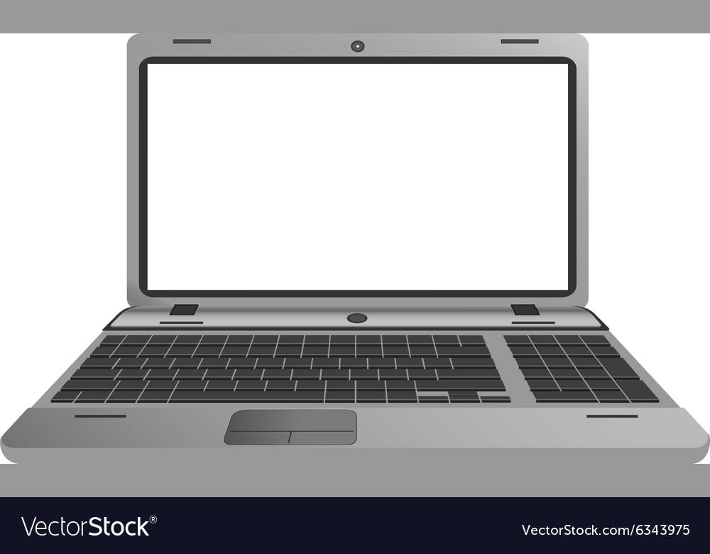 Silver laptop vector image