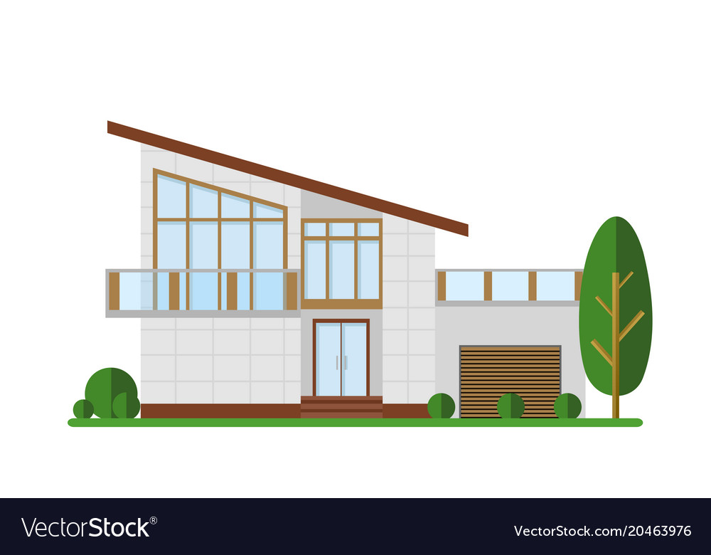 Family house modern vector image