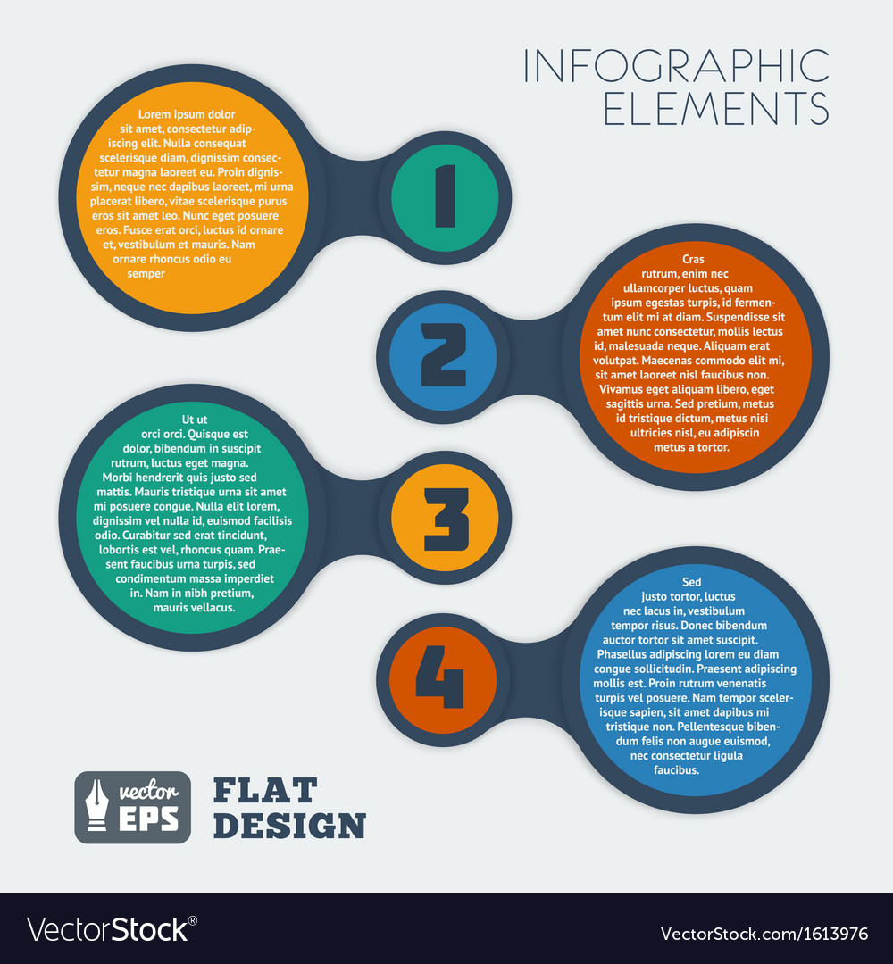 Metaball flat infographic 2 vector image
