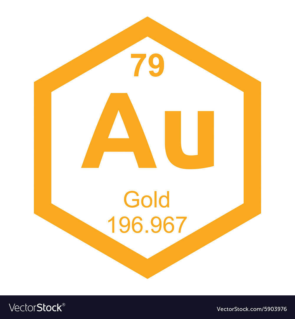 Periodic table gold royalty free vector image vectorstock periodic table gold vector image biocorpaavc