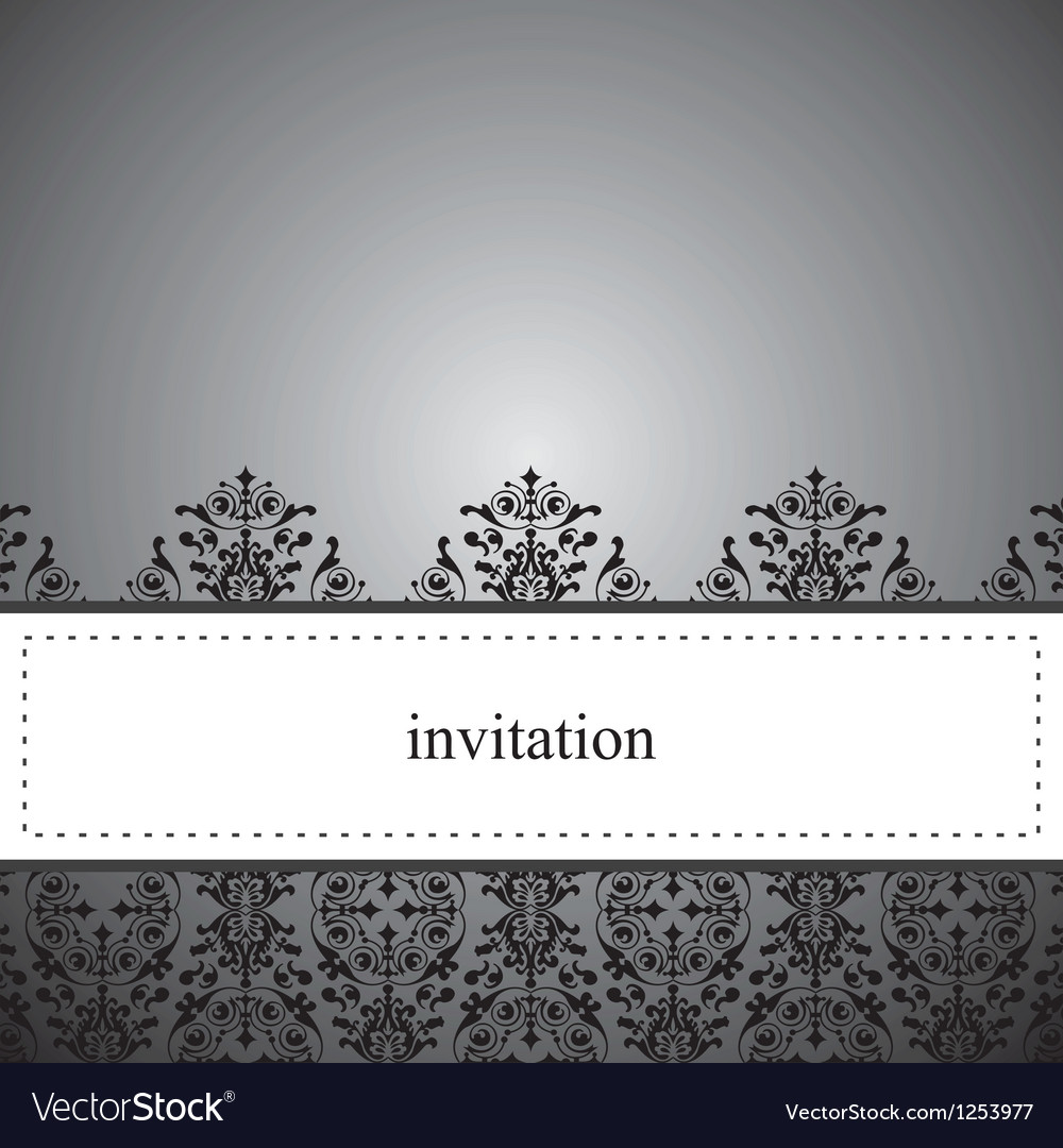 Classic elegant dark card or invitation vector image