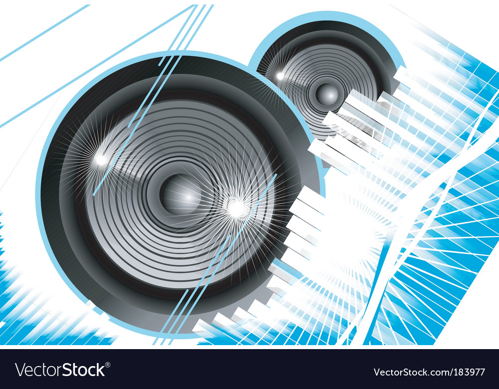 Music equalizer background vector image