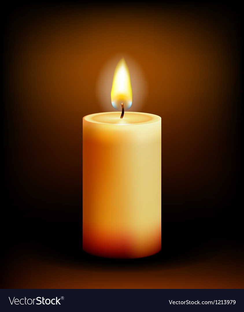 Church candle light vector image