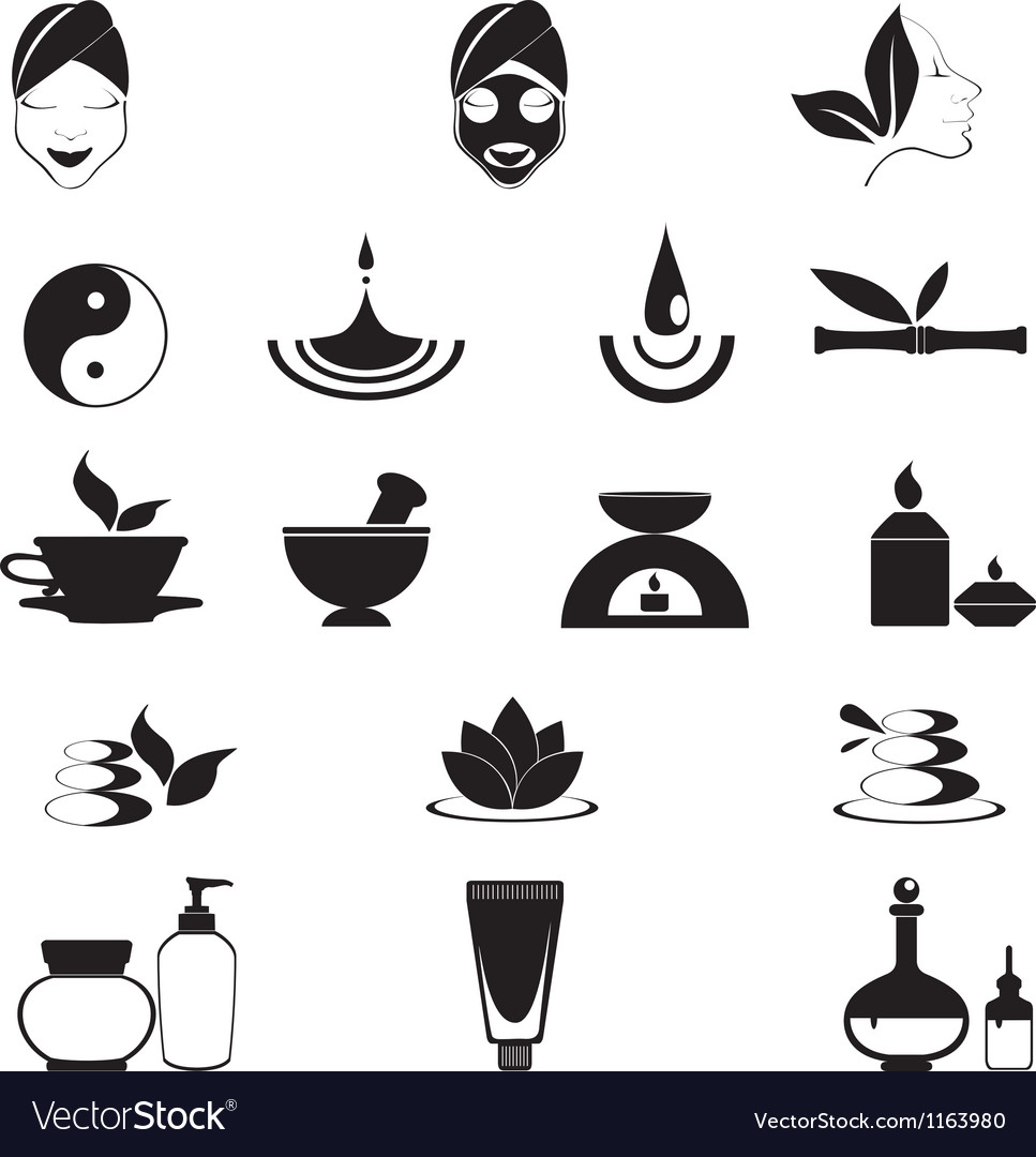 Wellness icons vector image