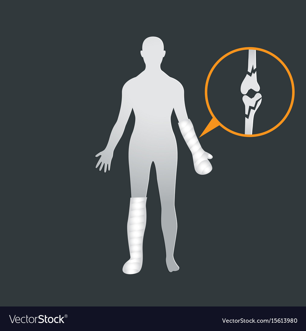 Traumatology and trauma surgery logo icon design vector image