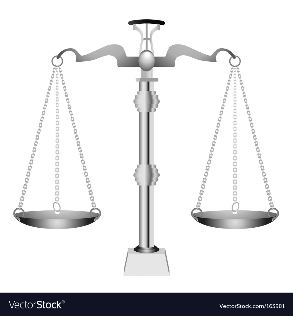 Silver scale vector image