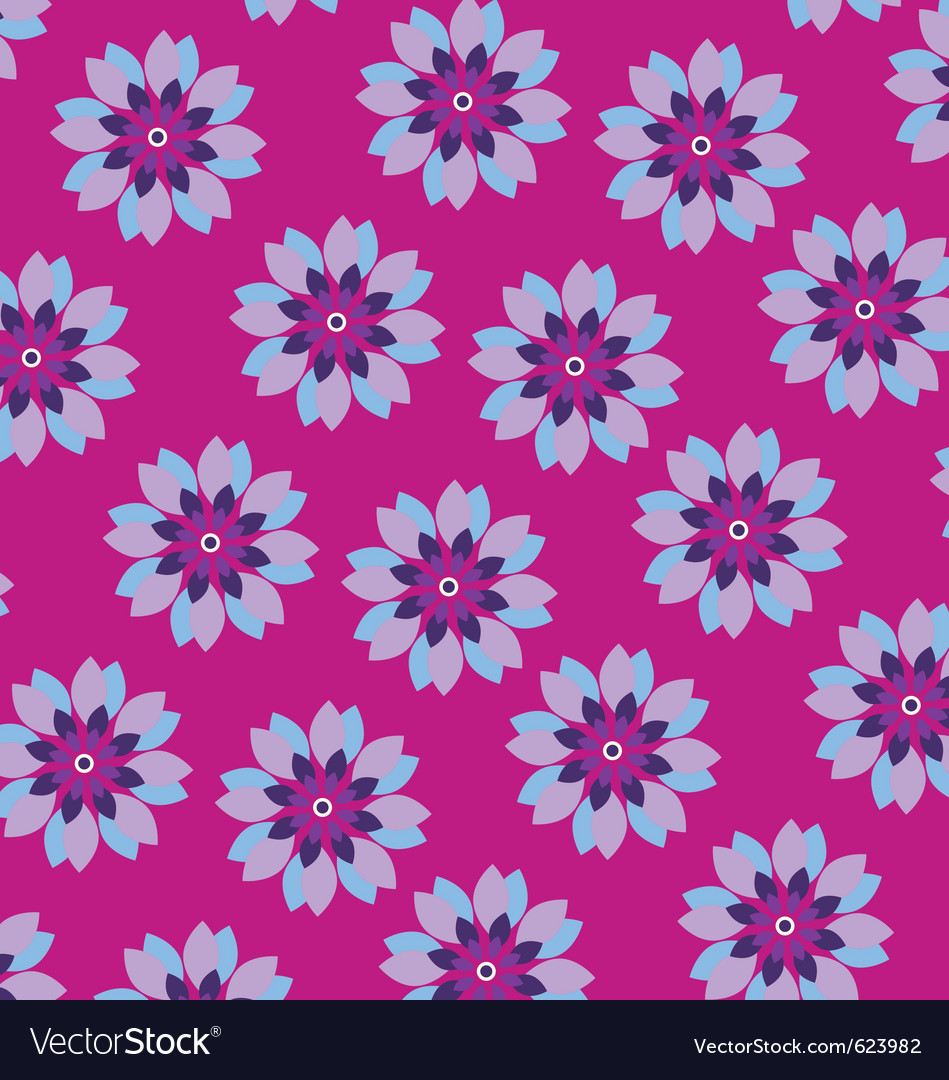 Flower wrapping paper vector image