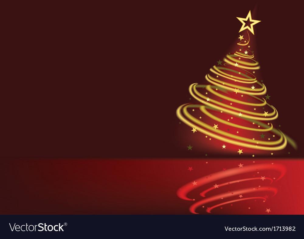 Glowing Christmas Tree vector image