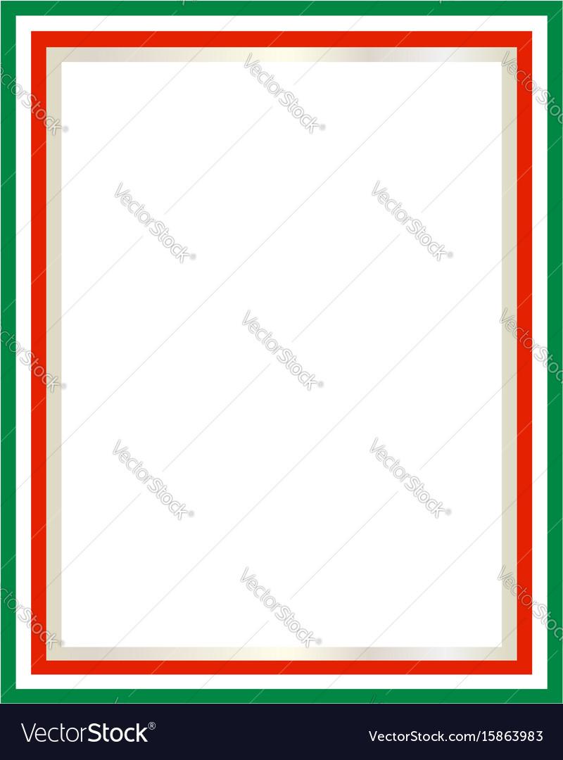 Italian flag border Royalty Free Vector Image - VectorStock Italian Border